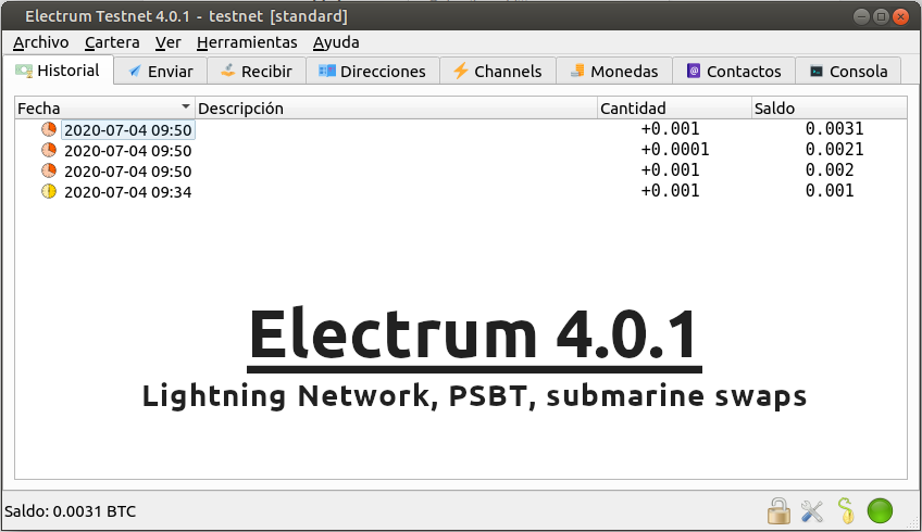 Electrum 4.0.1 - titulo para la noticia