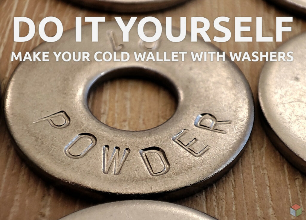 DIY Make your cold wallet with washers